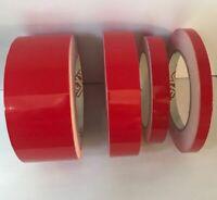 Red Gloss Coach Line   Pin Stripe Vinyl Tape 10 meters x 10mm   BOAT/CAR/BIKE