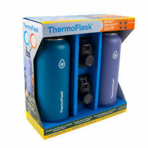 NEW!!  ThermoFlask 40oz Insulated Stainless Steel Water Bottle, 2-PACK!!