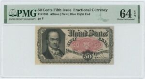 Fifth Issue 50C Fractional FR#1381 PMG CH Unc 64 EPQ