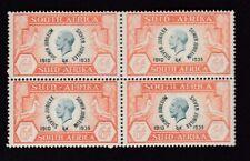 South Africa 1935 KGV Jubilee 6d SG68 block 4 UM MNH - see description