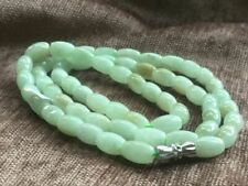 6x9mm 100% Natural A  Green Emerald Jade Beads ~Necklace Have certificate3403