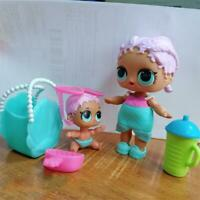 Lot 2pcs LOL überraschung Doll MERBABY Family & Lil & Bag THEATER Toys Gift