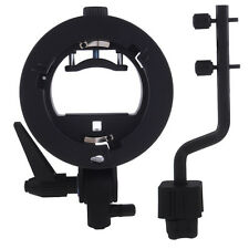 S-TYPE Flash Bracket for Canon 600EX with 4 Flash Adapter Hot-Shoe Mount Bracket