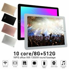 "8G+512G Android 9.0 10Core 10.1"" HD Game Tablet Computer PC GPS Wifi Dual Camera"