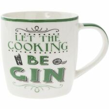 Lesser & Pavey Word Play Porcelain Mug - Let the Cooking Be Gin