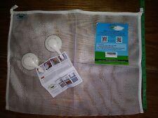 """2) Baby Bath Toy Mesh Net Storage Bag Holder Bathtub 18"""" x 12"""" by Little Peas"""