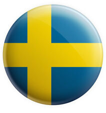 "Sweden Swedish Flag Pin Badge 3"" 75mm Gift Birthday Stocking Filler"