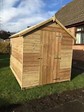 8x4 Overlap T&G Wooden Garden Storage Shed Tanalised Hut Pressure Treated Timber