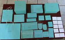 28 Tiffany & Co. Empty Blue Gift Boxes & Jewelry & Suede Pouches (Brand New)