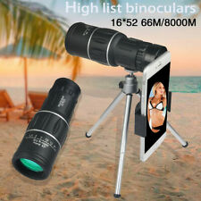 Monocular Telescope 16x52 HD High Power Prism Waterproof W/ Night Vision Outdoor