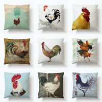Animal Linen Pillow Case Cushion Cover Decorative Square Home Throw Sofa Cojines