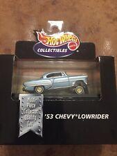 1998 HOT WHEELS BLACK BOX - 1953 CHEVY LOWRIDER  w/CASE  -1:64 NIP