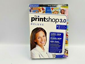 New Broderbund Software PrintShop 3.0 Deluxe - Create cards and letterheads