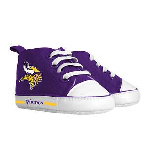 Minnesota Vikings Baby Shoes, NFL Pre-Walker Hightops High Tops