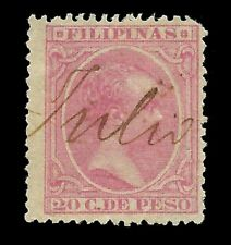Sellos España.FILIPINAS.1890. Alfonso XIII.2ct rosa.Usado.Edifil nº86