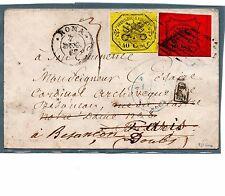 STATO PONTIFICIO 07/12/1867 DA ROMA A PARIGI RISPEDITA A BESANCON
