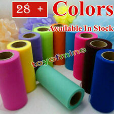 """6 """"x 25 YD Tulle Rouleau Spool Tutu Wedding Party Gift Wrap Craft Décorations"""