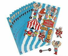 Carnival Circus STICKERS (12 sheets) Party Favors Supplies Birthday Treat Bags