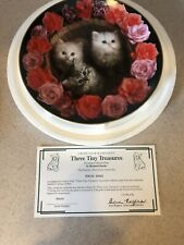 Coming Up Roses Three Tiny Treasures Cat Richard Stacks Danbury Kitten Plate