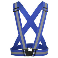 Reflective Safety Vest Belt Adjustable Motorcycle Cycling Harness Waistcoat