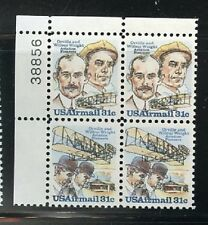 C91 - C92 USA Mint NH Wright Brothers Plate Block position and # may vary