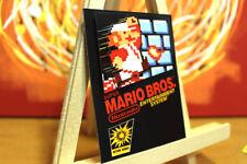Nintendo Super Mario Bros 1 Collectible NES videogame Cover Art fridge magnet