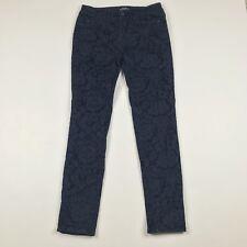 Ann Taylor Loft Size 0 Modern Skinny Jeans  Damask Print Dark Blue