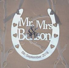 Personalised Mr & Mrs Wedding Horseshoe Keepsake,Bridal Gift  **FREE GIFT BAG**
