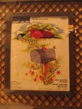 PARAGON CREWEL STITCHERY KIT # 8064 COUNTRY SCENE 13X15 RED BARN INCLUDES FRAME