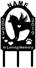 Siberian Husky Dog Pet Memorial Grave Marker Sign Cemetery Personalized Metal Ar