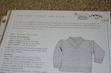 Zig Zag Eyelet Sweater Green Mountain Spinnery Knitting Pattern 83