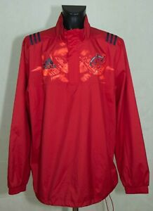 MUNSTER RUGBY WINDPROOF TRAINING TOP ADIDAS SIZE XL MINT //