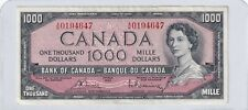 1954 $1000 One Thousand Bank of Canada Note Bouey Raminsky EF/AU