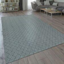 Moderner Flachgewebe Teppich Webmuster Flecht Muster Geometrisches Design Grau