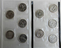1999 P and D State Quarter 10 Coins from US Mint Set BU Statehood Cello 25c Coin