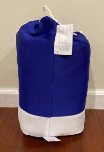 Blue IKEA KLIPPAN Slipcover with 3 Storage Pockets For Loveseat 2 seat Sofa NEW