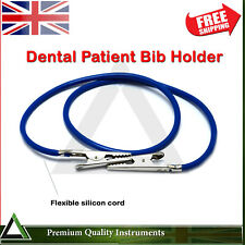 Oral Surgical Dental Patient Bib Holding Napkin Holder Blue Silicon Cord Pipe