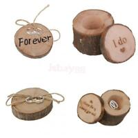 Rustic Wood Wedding Ring Bearer Pillow Ring Holder Box Forever Wedding Favors