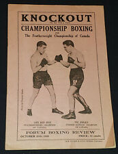 1926 - LEO KID ROY vs VIC FOLEY - MONTREAL FORUM - BOXING CHAMPIONSHIP - PROGRAM