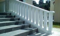 Balustraden Höhe 92cm. Balustrade Baluster Marmor Geländer eckig