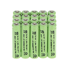 20pcs AAA 600mAh 1.2V Ni-MH Rechargeable Batteries for Garden Flashlight - Green