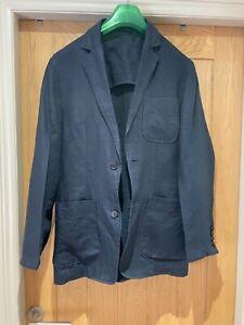 Men's Next Linen Jacket, Navy Blue, Size 36, new