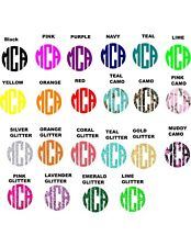 Cell Phone Monogram Decals Stickers / Two Pack
