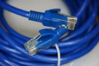 CAT6 15m Ethernet Patch Kabel / Netzwerkkabel Standard UTP blau 15 Meter Cat 6