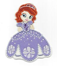 """7"""" big PRINCESS SOFIA THE FIRST Disney Patches Iron/Sew On/Applique/Embroidered"""
