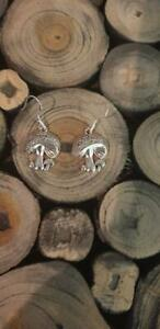 Mushroom Earrings,  with Sterling Silver Ear wires