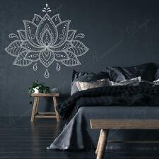 Big Size Lotus Flower Mandala Wall Stickers Vinyl Home Décor Bedroom Car Office