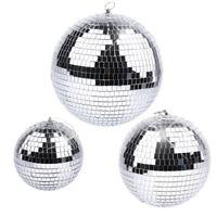 "6/8/10"" Disco Mirror Ball Glass Party Xmas Decor DJ Dance Stage Lighting Effect"