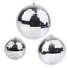 6/8/10/12 Inch Disco Mirror Ball Glass Party Xmas Light Dj Stage Lighting Effect
