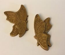 Butterflies Set of 2 vintage Home Interior Universal Statuary 1973 resin